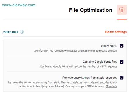 WP Rocket- file optimization