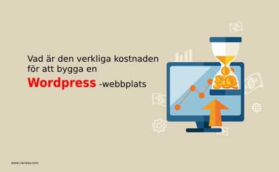 kostar wordpress-webbplats